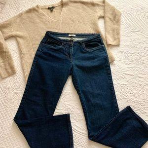 Eileen Fisher Organic Cotton straight leg Jeans PS